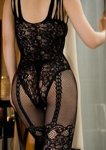 SEXY-BLACK-FISHNET-CROTCHLESS-STOCKING-SUSPENDER-BODYSTOCKING-LINGERIE-SIZE-8-14