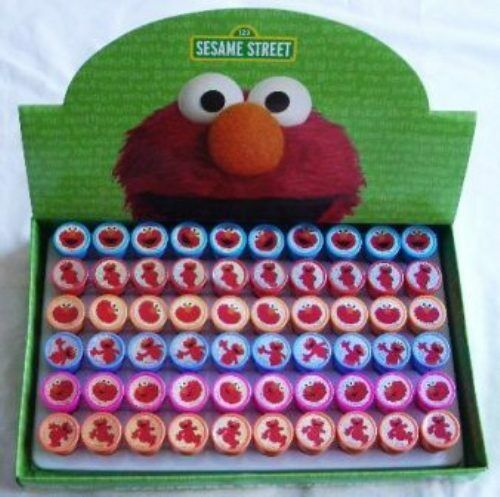 24 pieces Sesame Street Elmo Self Inking Stamper Pencil Topper Wholesale Lot :)