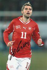 VALON BEHRAMI Svizzera INT 2005-originale firmato a mano grande fotografia
