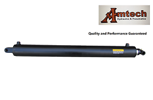 Hydraulic-cylinder-3-034-Bore-x-30-034-Stroke-x-39-034-Retracted-tang-amp-Cross-Trailer