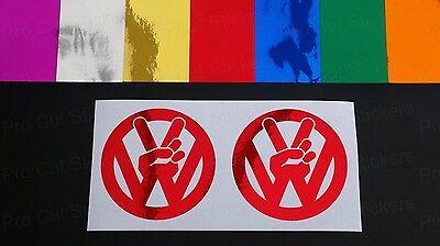Peace Transporter Campers Chromes Vinyl Gestanzt Auto Eigener Sticker Aufkleber