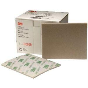 "3M 02600 4-1/2"" x 5-1/2"" Microfine Softback Sanding Sponge, Box of 20"