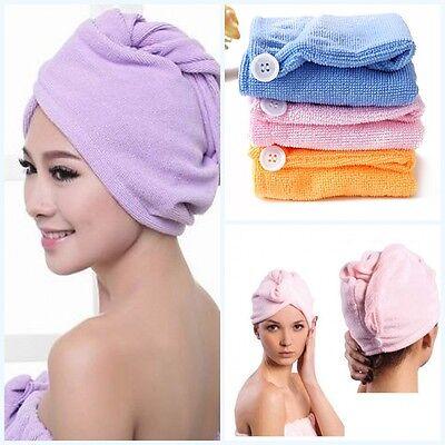 Haar Handtuch Schnell Mikrofaser Drying eingewickelt Turban-Hut-Kappen-Tu