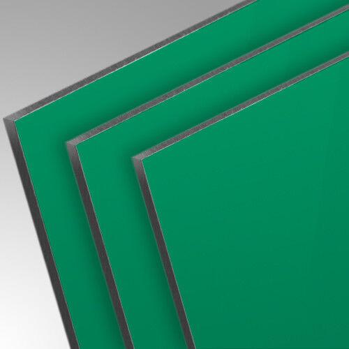 3mm Aluverbundplatte Grün RAL6024 Matt//Glänzend Werbetafel Beschriftung
