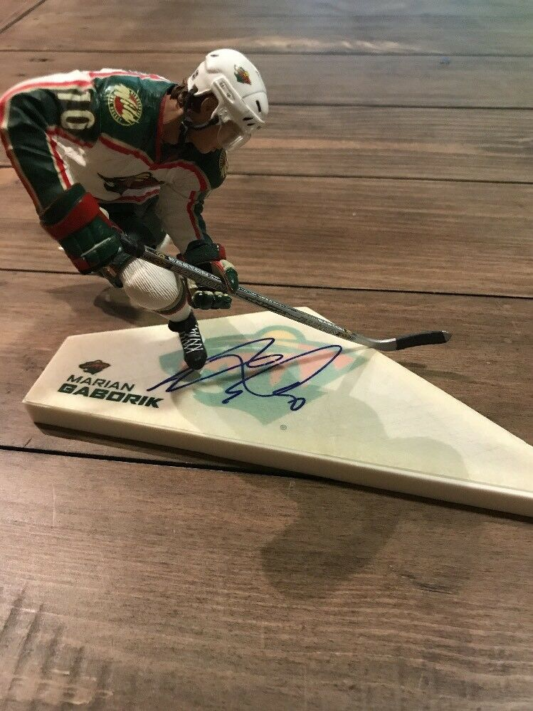 Signed Marian Gaborik Mcfarlane  NHL  Series 7 Figure Autograph