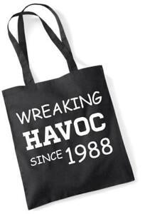 29. Geburtstagsgeschenk Einkaufstasche Baumwolle Neuheit Tasche Wreaking Havoc