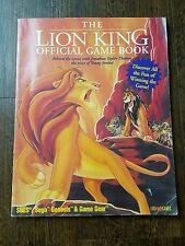 VTG Disney The Lion King Official Game Book SNES Sega Genesis & Game Gear