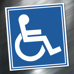 1 handicap logo sign table sticker decal 3 75 x3 5 disabled icon