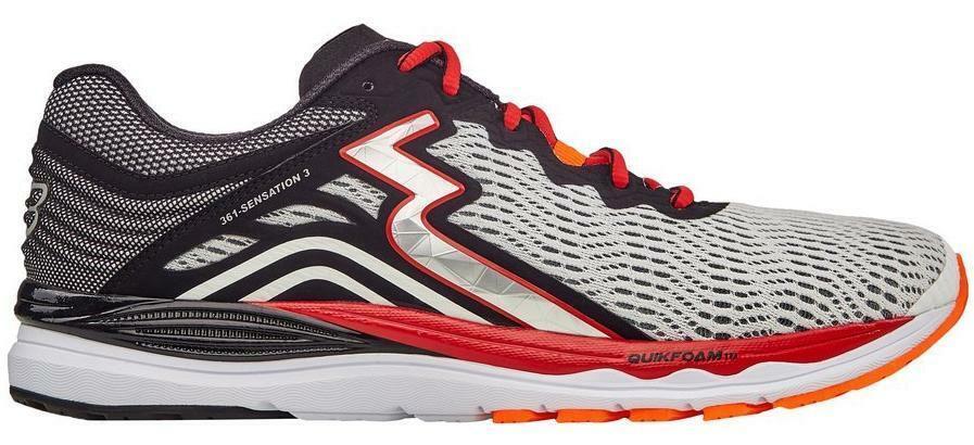 361 Degrees Sensation 3 Running Zapatos de Hombre-blancoo negro (Y802-0009)