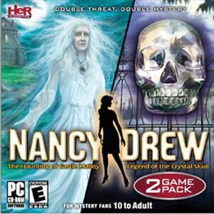 NANCY-DREW-The-Haunting-of-Castle-Malloy-amp-Legend-of-the-Crystal-Skull-2-Games