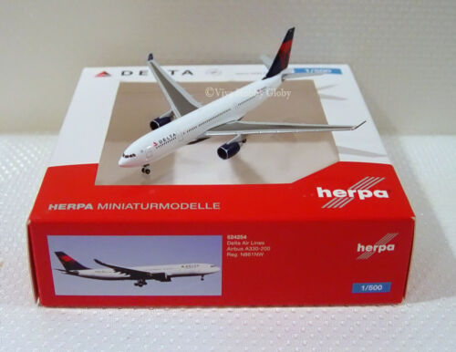 Herpa Wings Delta Air Lines Airbus A330-200 524254, 1/500 Reg# N861NW, New