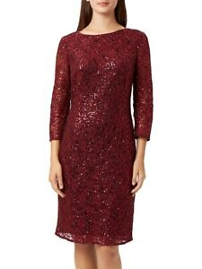 BNWT-RRP-199-ELAOISE-Fenn-Wright-Manson-Red-Wine-Sequin-Dress-QF-Christmas