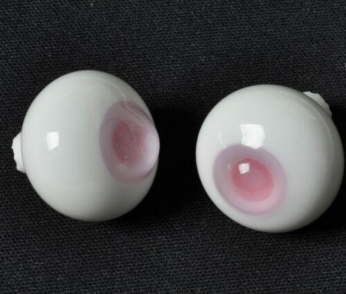 Nice Pink Pupil/&Iris 14mm Glass Eyes for Joint Reborn 1//4 BJD Dollfie