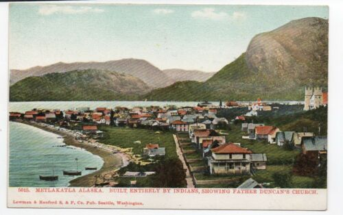1905 Postcard showing View of Metlakatla Alaska Built by Indians