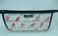 Kate Spade Medium Heddy Lilac Court Make-up Bag-lipstick Smudges Pink Red White