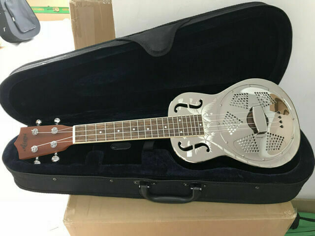 Aiersi Brand Chrome Bell Brass Body 24 Inch Concert Resonator Ukulele With Case For Sale Online Ebay