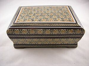 Persian-Miniature-Hand-Painting-Khatam-Inlaid-Handmade-Jewelry-Trinket-Gift-Box