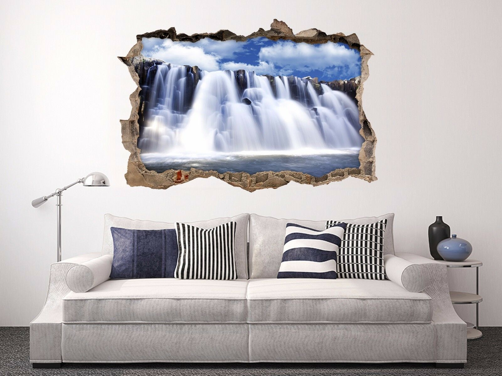 3D Grande Cascata 163 Parete Murales Adesivi Decal Sfondamento AJ WALLPAPER IT