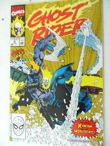 1 X Bd-ghost Rider-nº 9 Janvier-en Anglais-marvel-afficher Le Titre D'origine