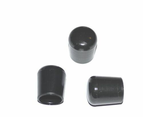 0.06€//1Stk 100 x Kappe für Rundrohr D=10//11 mm L=12,5 mm schwarz PVC