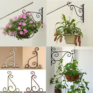 Lovely Image Is Loading Iron Wall Light Hook Bracket Garden Hanging Basket