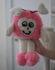Vintage Haans Craft Pink Heart Stuffed Animal Antenna's Fun Happy Handmade Cute