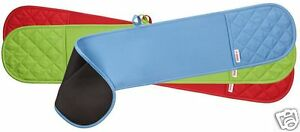 Judge-Silicone-amp-Cotton-Plain-Double-Oven-Glove-Mitt-Blue-Red-Green-JTE05