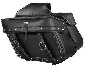 Honda Series Bikes w// Studs Medium Throw Over Waterproof Saddle Bag for Harley