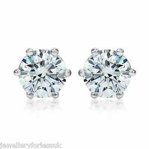 18Carat-White-Gold-Half-Carat-Solitaire-Diamond-6-Claw-Stud-Earrings-0-50cts