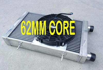 fan for Lotus Europa Coupe S1 S2 TC 1.5 1.6 1966-1976 3 core aluminum radiator