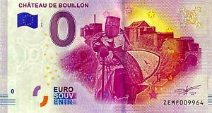 BILLET-0-EURO-CHATEAU-DE-BOUILLON-BELGIQUE-2017-NUMERO-DIVERS