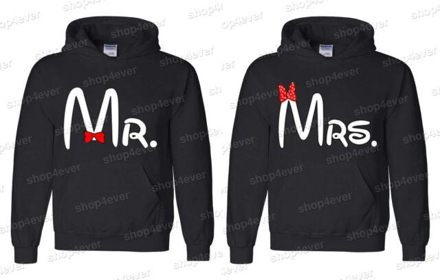 Couple Hoodies - Mr & Mrs - couple LOVE super cute cartoon hooded sweatshirt