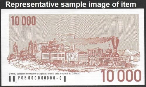 Reader/'s Digest 2001 Canada Sweepstakes advertising Note $10 000 FRENCH Coupon
