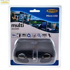 12 Volt Car Can Multisocket 12v For Drink Holder Twin USB Ring RMS10