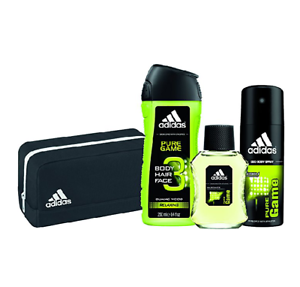 beef13f589bf Details about Adidas Mens Gift Set Pure Game 4 Piece Bag Cologne Body Spray  3 in 1 Wash NEW