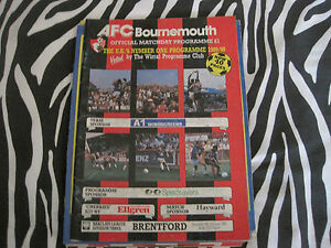 football programme  bournemouth v brentford  sat 19th jan 1991 - <span itemprop=availableAtOrFrom>aberdeen, Aberdeen City, United Kingdom</span> - football programme  bournemouth v brentford  sat 19th jan 1991 - aberdeen, Aberdeen City, United Kingdom