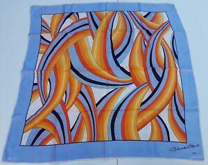 Foulard-carre-scarf-Firenze-100-silk-pura-seta-original-made-in-italy