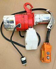 Harrington Mini Electric Ed2b 335 Chain Hoist 220 Lb Capacity 120v