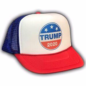 b2a5e16034825 Donald Trump 2020 Pence For President Trucker Hat Snapback MAGA Cap ...
