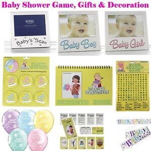 Baby Shower Fun Games Party Decorations Gifts Photo Frames Unisex