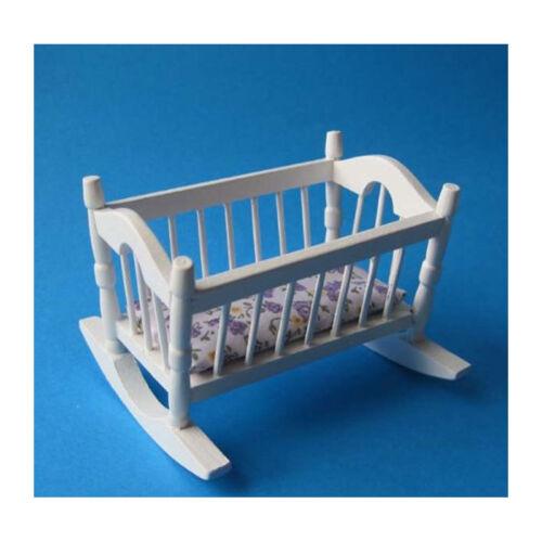 # Creal 27161 Miniature berceau blanc Bois 1:12 Pour Maison de poupée NOUVEAU