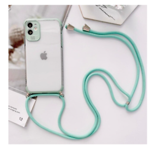 COQUE IPHONE+CORDON SILICONE IPHONE 7 8 11 IPHONE X XS XR IPHONE 11 PRO (VERT)