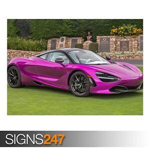 PINK-MCLAREN-720S-2017-AD737-CAR-POSTER-Photo-Poster-Print-Art-All-Sizes