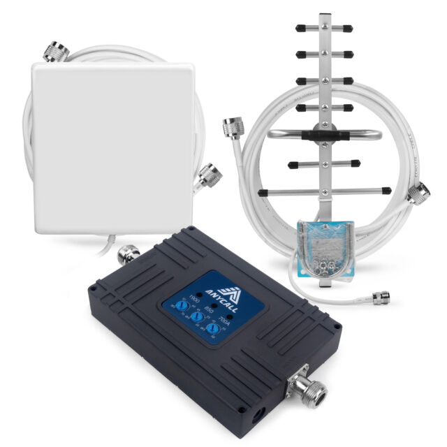 4G LTE AT&T 700MHz 2G GSM 850/1900MHz 70dB Mobile Phone Signal Booster Repeater