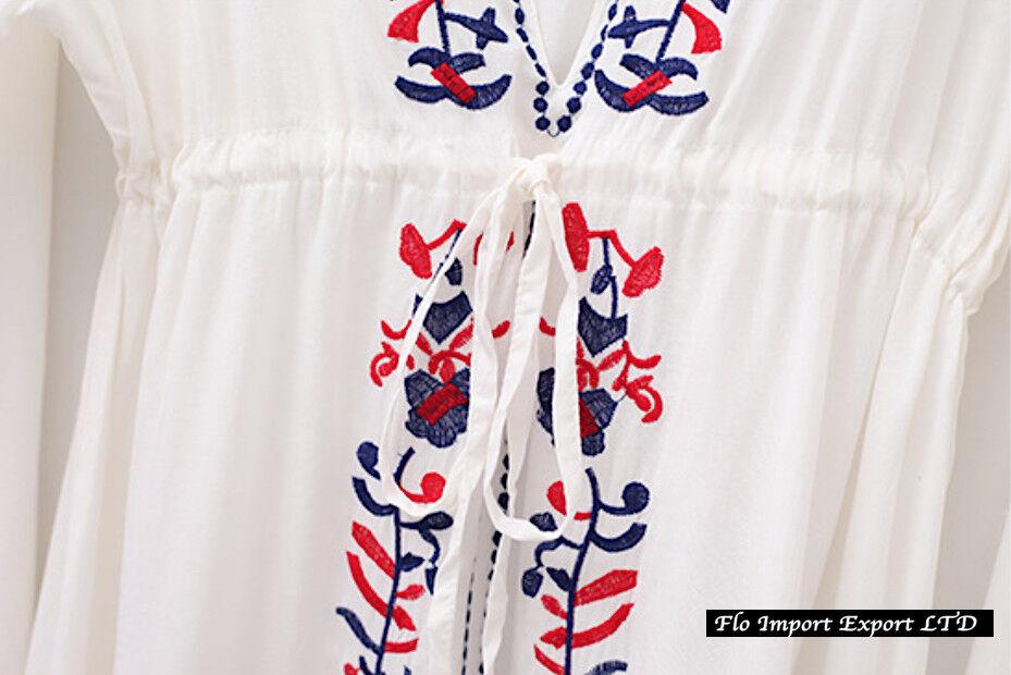 Caftano Vestito Manica Lunga Donna Copricostume Woman Kaftan Dress COV0041