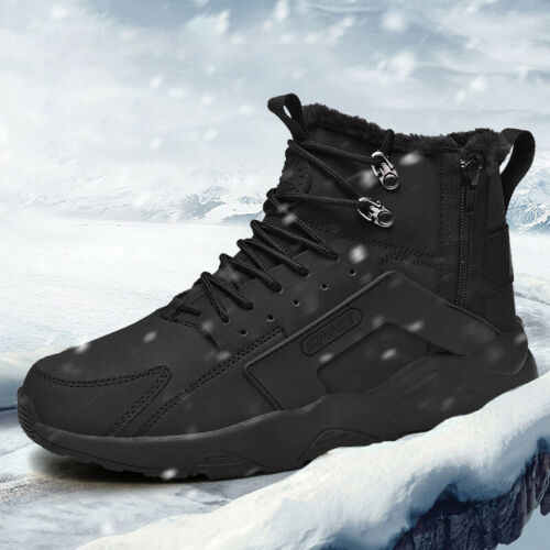 Mens Winter Cotton-padded Boots Warmming Shoes Sneaker Athletic Air Big Size 46