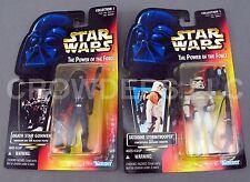 Star Wars PotF Tatooine Stormtrooper & Death Star Gunner Red Cardback Kenner '96