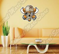 Dead Scuba Diver Skull Deep Sea Dive Wall Sticker Interior Decor 22x22