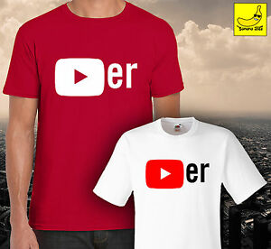 youtube player t shirt funny youtuber fan gift adults kids bro viral new tee ebay. Black Bedroom Furniture Sets. Home Design Ideas