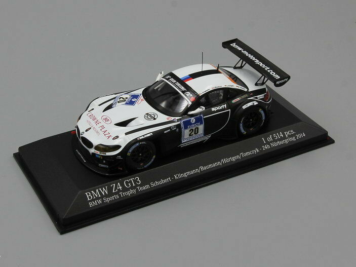Minichamps 1:43 BMW Z4 GT3 - BMW SPORTS TROPHY TEAM SCHUBERT 24H N'RING 2014